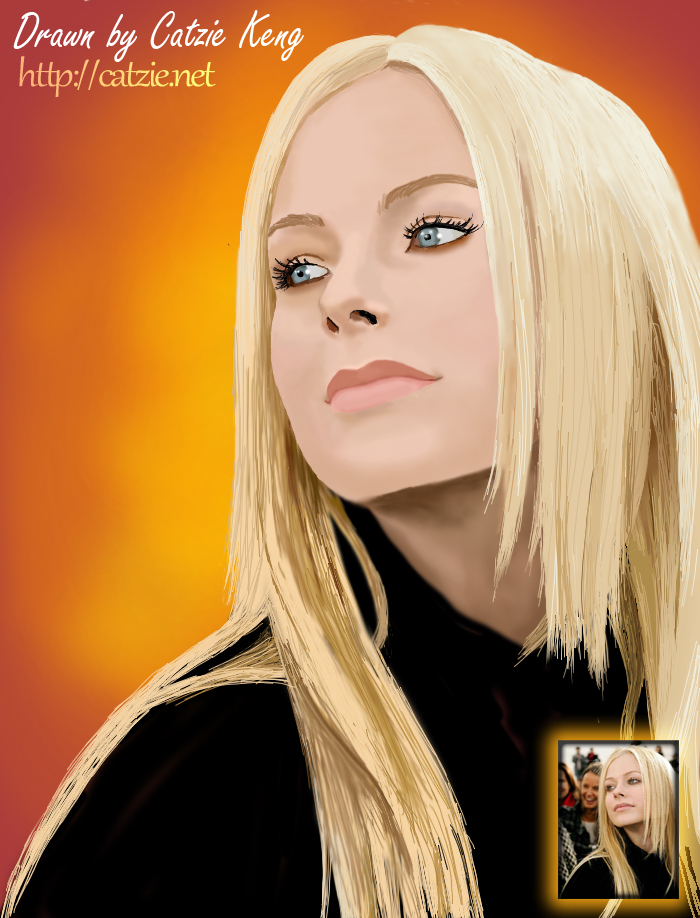 Avril Lavigne digital drawing by Catzie