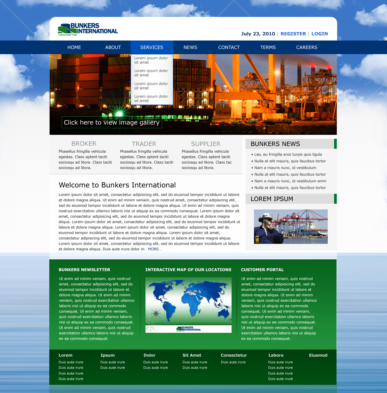 Website Design - Bunkers Int'l 02