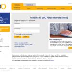 BDO Internet Baking - Present Login Interface Design