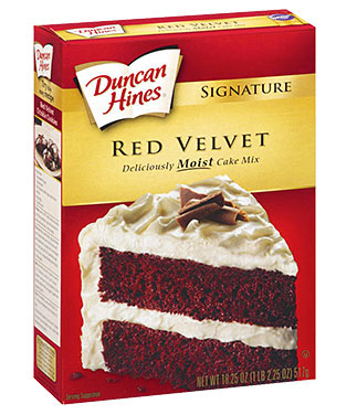 Duncan Hines red velvet cake mix review