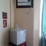 Fridge with complementary bottled water at Subic Park Hotel