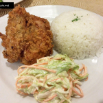 Country fried chicken and coleslaw