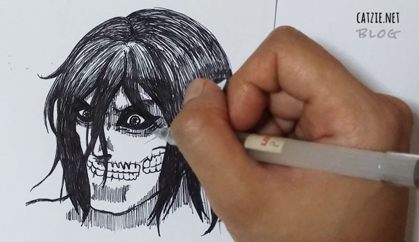 Attack on Titan drawing by Catzie, raw.