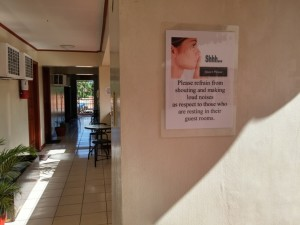avoid noise at night (Rockpoint Hotspring Resort Hotel review)