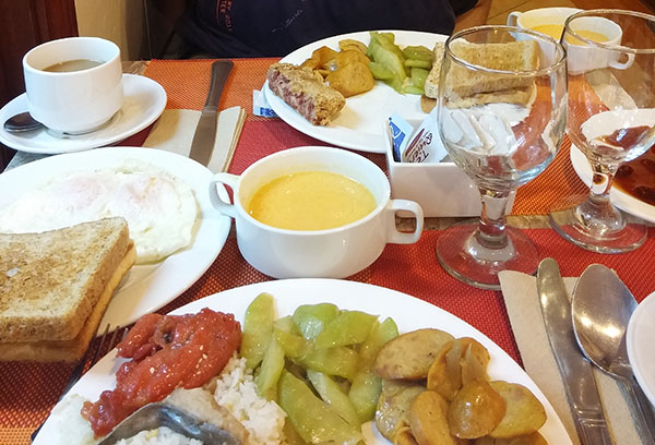 2nd day breakfast buffet at Microtel Baguio