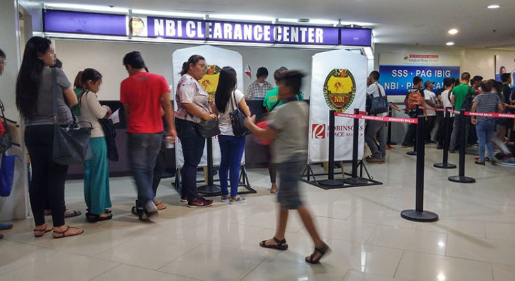 nbi clearance online registration robinsons ermita basement biometrics queue inside