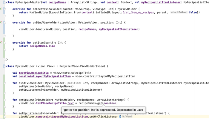 android getter for position int is deprecated. deprecated in java